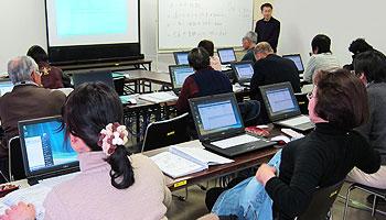 日田市主催のIT教室を担当しました(日田市中央公民館にて)